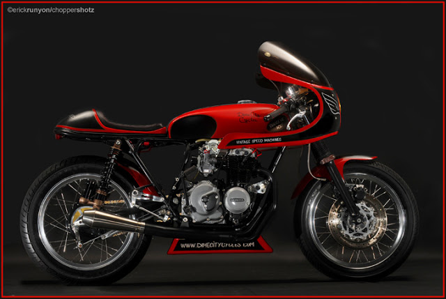 Honda CB400 Cafe Racer Dime City Cycles 3