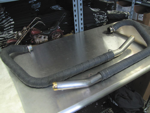 How To Wrap an Exhaust 8