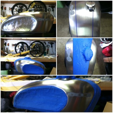 Cafe Racer Tank With Knee Dents 4