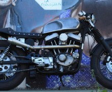 Harley Davidson Sportster Cafe Racer by Sylvain Barrel Void
