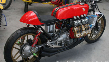 Honda Cafe Racer V8 by Tjitze Tjoelkers Void