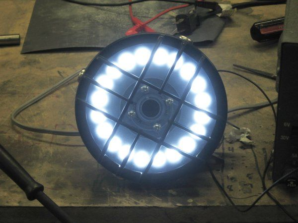 How To Make a LED Headlight for Cafe Racers 10