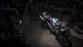 Thruxton Cafe Racer steampunk void